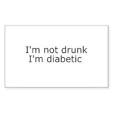 Diabetic Info Rectangle Bumper Stickers