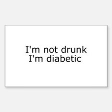 Diabetic Info Rectangle Bumper Stickers