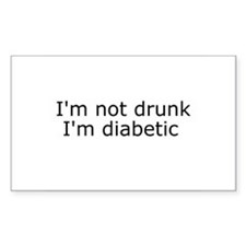 Diabetic Info Rectangle Decal