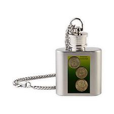 Arkansas Centennial Half Dollar Coi Flask Necklace
