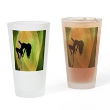 Exotic Dancer - Green Drinking Glass