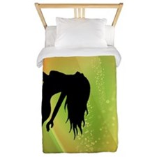 Exotic Dancer - Green Twin Duvet