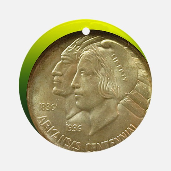 Arkansas Centennial Half Dollar Coi Round Ornament