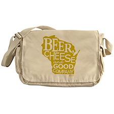 Gold Beer, Cheese  Good Company Messenger Bag
