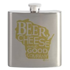 Gold Beer, Cheese  Good Company Flask