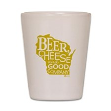 Gold Beer, Cheese  Good Company Shot Glass