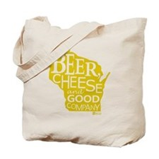 Gold Beer, Cheese  Good Company Tote Bag