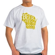 Gold Beer, Cheese  Good Company T-Shirt