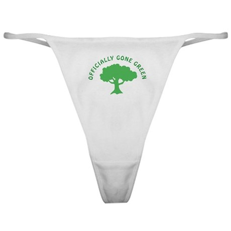 Earth Day : Officially Gone Green Classic Thong