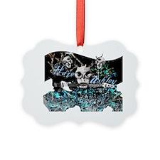 h-skull guitar Ornament