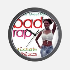 Bad Rap Wall Clock