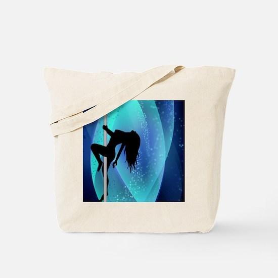 Stripper Silhouette - Blue Tote Bag