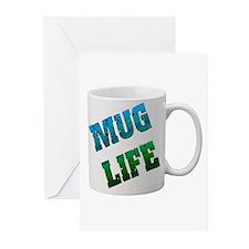 Mug Life Greeting Cards