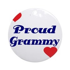 Proud Grammy  with hearts Round Ornament
