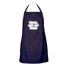 Shine, and Let Shine Apron (dark)