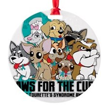 Tourettes Syndrome Puppy Group Ornament