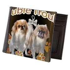Pekingese Double Trouble Cards and Art Mens Wallet