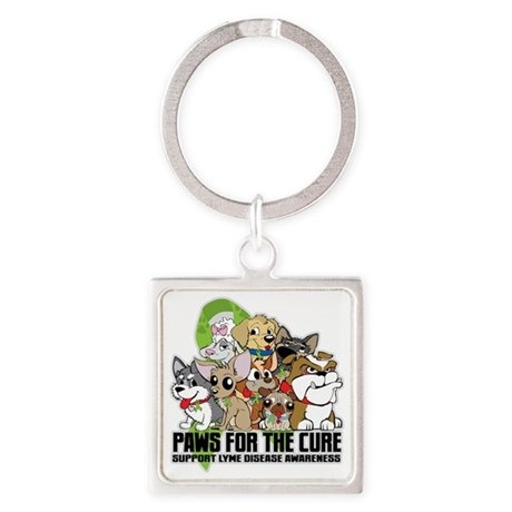 Lyme Disease Puppy Group Square Keychain