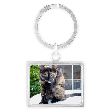 callie the cat Landscape Keychain