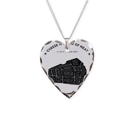 Cheese chart Necklace Heart Charm