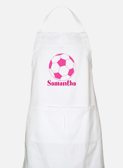 Pink Soccer Ball Apron