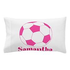 Pink Soccer Ball Pillow Case