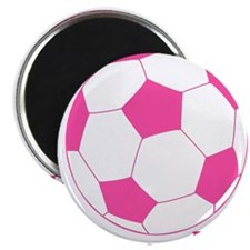Pink Soccer Ball Magnets