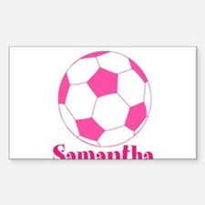 Pink Soccer Ball Decal