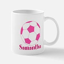 Pink Soccer Ball Mugs