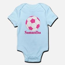 Pink Soccer Ball Body Suit