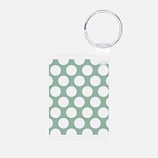 Jade Green Polkadot Keychains