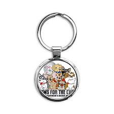 Parkinsons Puppy Group Round Keychain