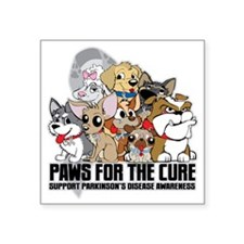 """Parkinsons Puppy Group Square Sticker 3"""" x 3"""""""