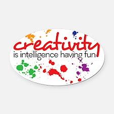 creativity Oval Car Magnet