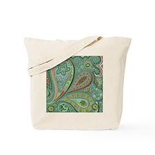 White Lace Paisley Tote Bag