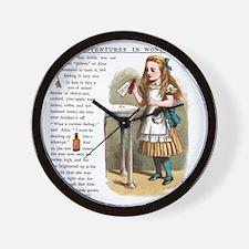 Alice in Wonderlan Drink Me Wall Clock