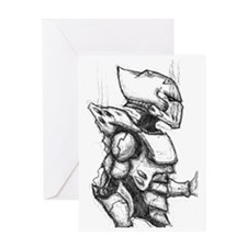 Space Elf Armour Greeting Card