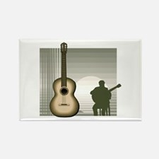 acoustic guitar player sitting brown Magnets