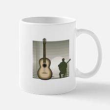 acoustic guitar player sitting brown Mugs