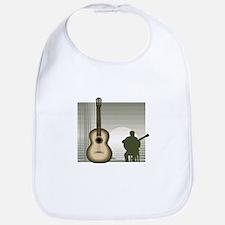 acoustic guitar player sitting brown Bib