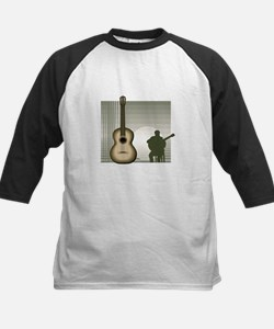 acoustic guitar player sitting brown Baseball Jers