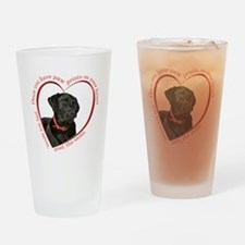 Lab Paw Prints Drinking Glass