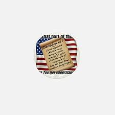 Second Amendment 1 Dark Mini Button
