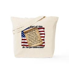 Second Amendment 1 Dark Tote Bag