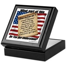 Second Amendment 1 Keepsake Box