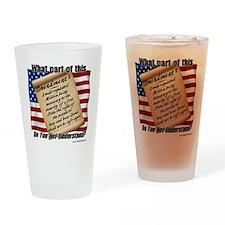Second Amendment 1 Drinking Glass