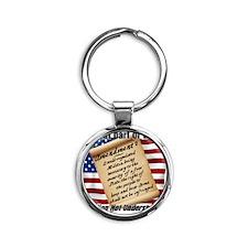 Second Amendment 1 Round Keychain