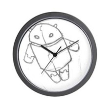 Android in flight Wall Clock