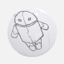 Android in flight Round Ornament
