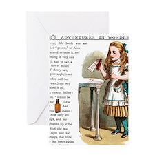 Alice in Wonderland Drink Me Greeting Card